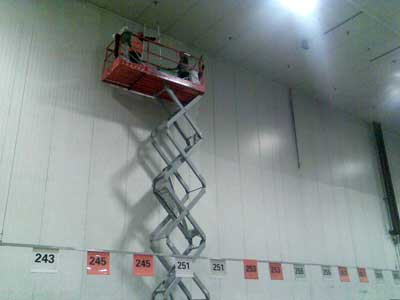 cleaning of high level areas in warehouse